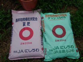 夏肥の施用