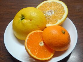 カットした柑橘