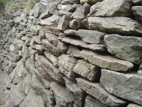 段々畑の石垣